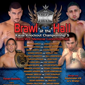Barca headlines Brawl at the Hall on Sept. 29th