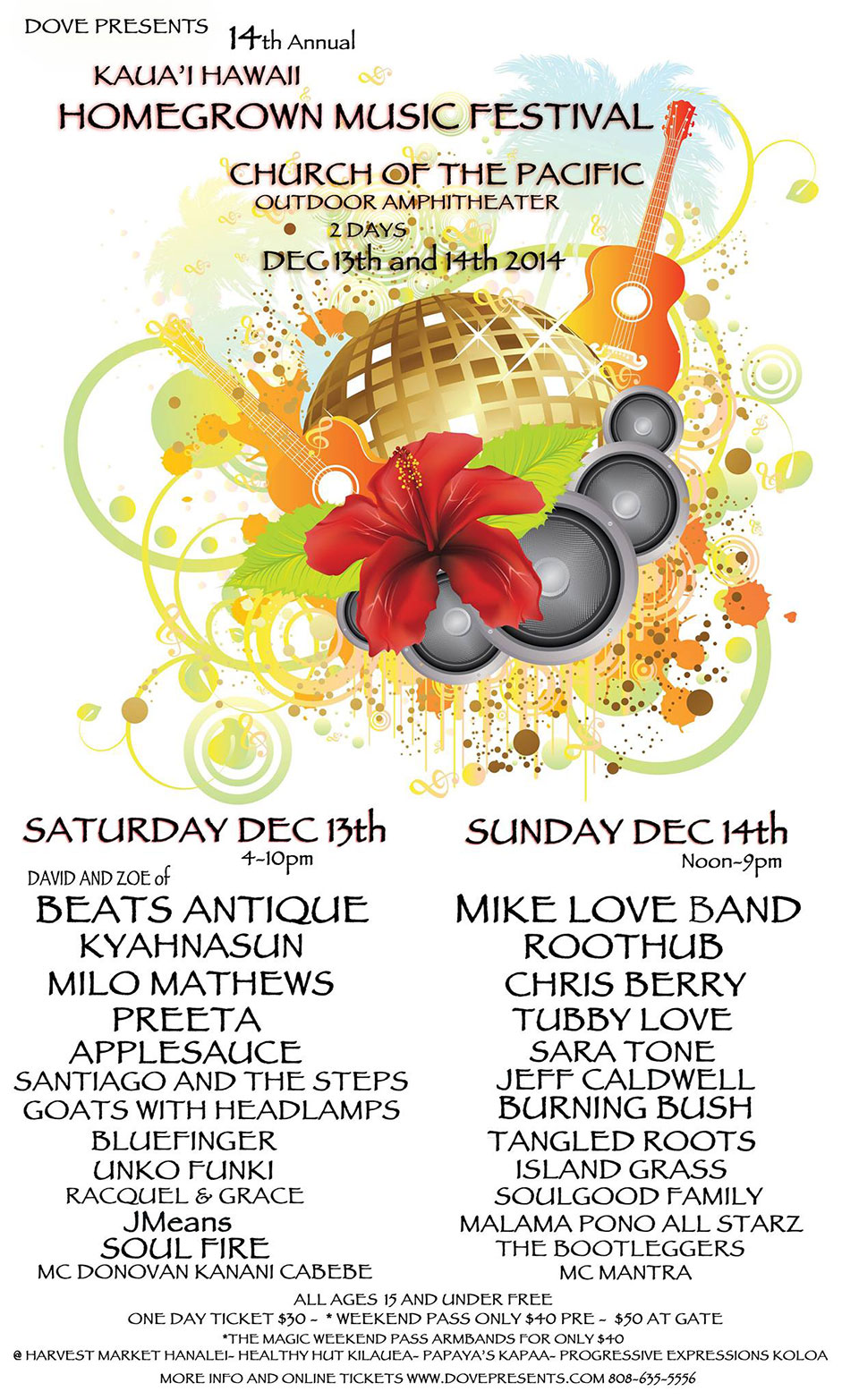 14th Annual Kauai Homegrown Music Festival