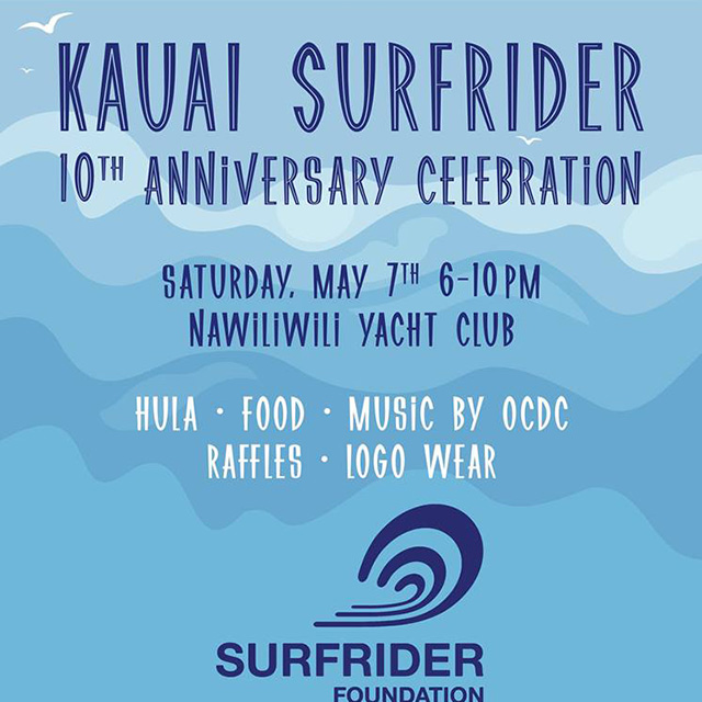 Kauai Surfrider 10th Anniversary Celebration